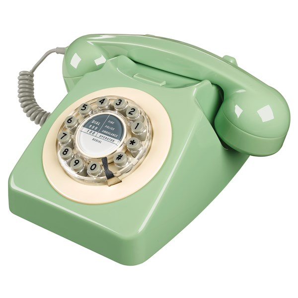 Classic Vintage Retro Telephones in Green