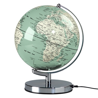 "Wild & Wolf Light Up 10"" Globe in Swedish Green"