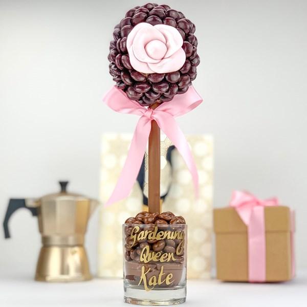 Personalised Minstrel Rose Sweet Tree Gift Idea