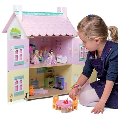 LE TOY VAN SWEETHEART COTTAGE DOLL HOUSE with Furniture