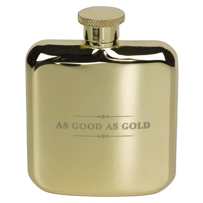 TED BAKER Hip Flask in Gold