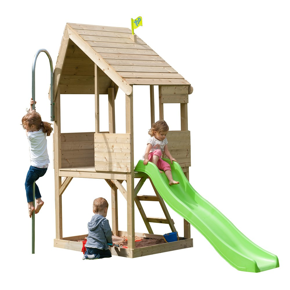 Tp Toys Forest Chalet Wooden Playhouse & Slide - Tp Toys | Cuckooland