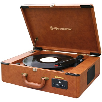 ROADSTAR VINTAGE STYLE RETRO RECORD PLAYER & Radio