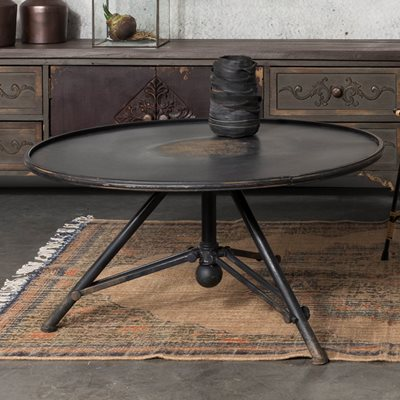 INDUSTRIAL IRON LIVING ROOM & LOUNGE COFFEE TABLE