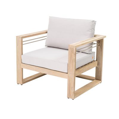 TAHITI OUTDOOR LOUNGE CHAIR in Teak