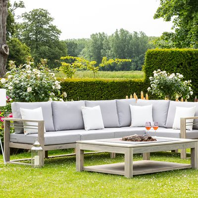 TAHITI OUTDOOR CORNER SET in Teak