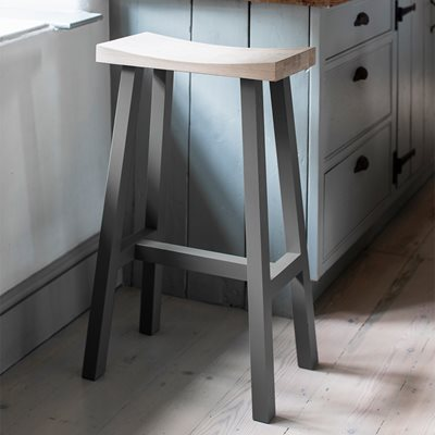 GARDEN TRADING TALL CLOCKHOUSE STOOL in Charcoal