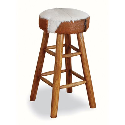 TALL COWHIDE BARSTOOL