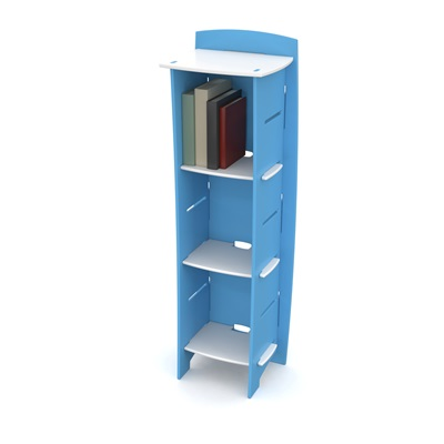 EASY FIT KIDS TALL BOOKCASE in 'Surfs Up' Design