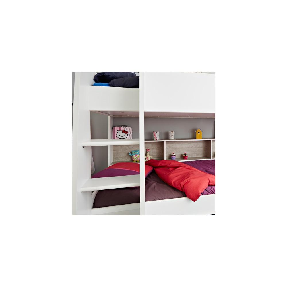 Parisot tam tam childrens bunk bed in white loft grey kids avenue cuckooland - Www parisot com ...