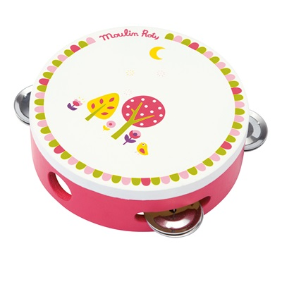 MOULIN ROTY CHILDRENS TAMBOURINE in Pink