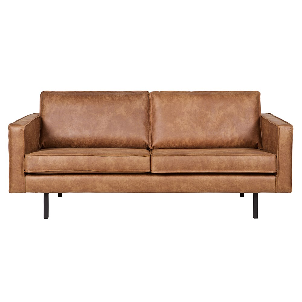 Rodeo 2 Seater Leather Sofa In Tan - Be Pure Home | Cuckooland