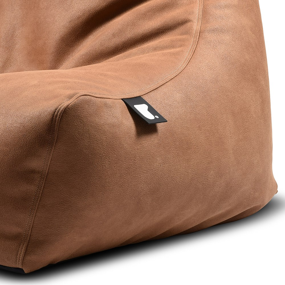 5756c3f3ac Extreme Lounging Mighty B Faux Leather Bean Bag In Tan - Extreme ...