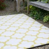 Tangier Outdoor Rug in Celery & White