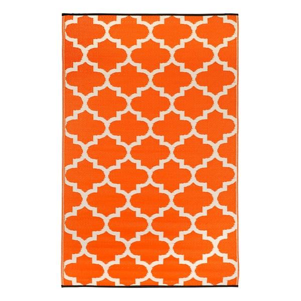 Orange Geometric Rug