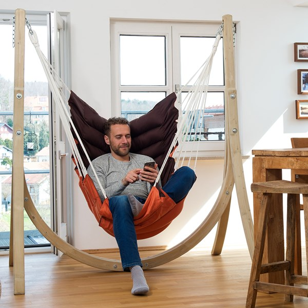 Taurus Set Terracotta Hammock Chair and Stand