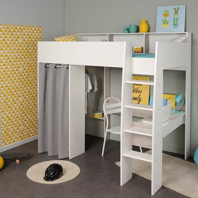 Parisot Taylor Kids High Sleeper with Desk and Wardrobe