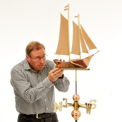 COPPER TEA CLIPPER SHIP 3D WEATHERVANE