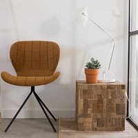 ZUIVER MOSAIC WOODEN CUBE TABLE in Recycled Teak & Acacia Wood