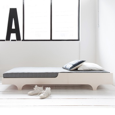 A DESIGNER TEEN BED in Whitewash Finish
