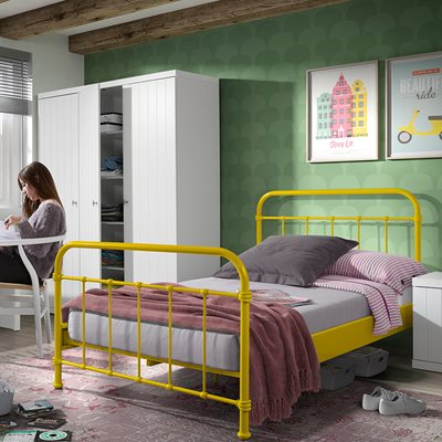New York Small Double Kids Bed in Yellow