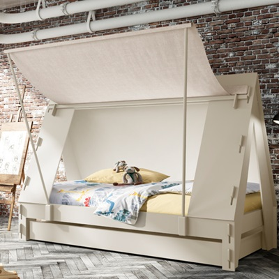 KIDS TENT CABIN BED in White USA Sized