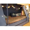 Cushions, Pillows and Lights create a mood in the Childrens Tent Cabin Bed