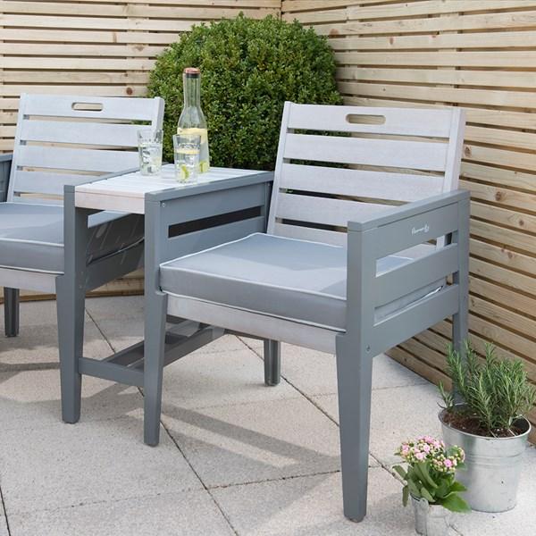 Grigio Tete a Tete Wooden Garden Bench
