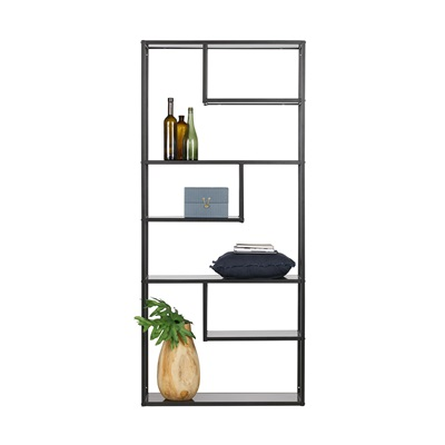 Teun Black Metal Shelving Unit by Woood