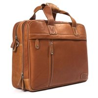 THE CLERK TWIN HANDLE LAPTOP BRIEFCASE  In Tan