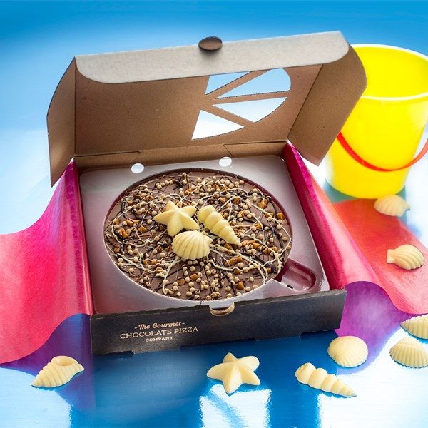 Seashell Chocolate Pizza from The Gourmet Chocolate Pizza Company