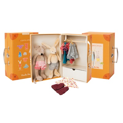 MOULIN ROTY CHILDRENS LITTLE WARDROBE SUITCASE