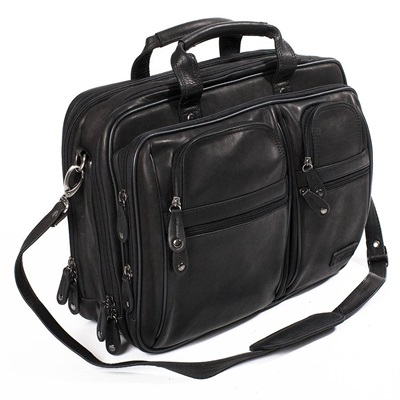 TRAVELLER OVERNIGHT LAPTOP BRIEFCASE In Black by Adventure Avenue