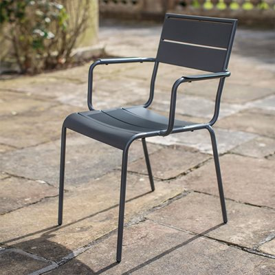 GARDEN TRADING THURLOE CHAIR in Dark Grey