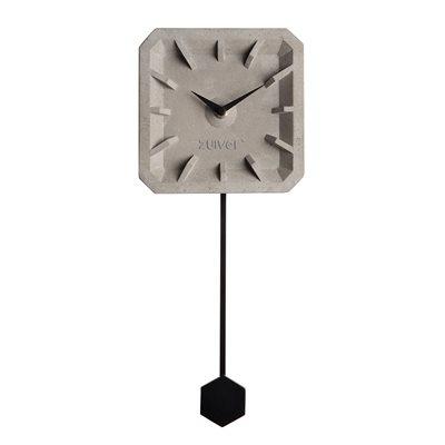TIKTAK TIME CONCRETE CLOCK in Black