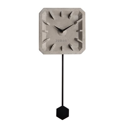 TIKTAK TIME CONCRETE CLOCK in Black