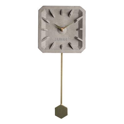TIKTAK TIME CONCRETE CLOCK in Brass