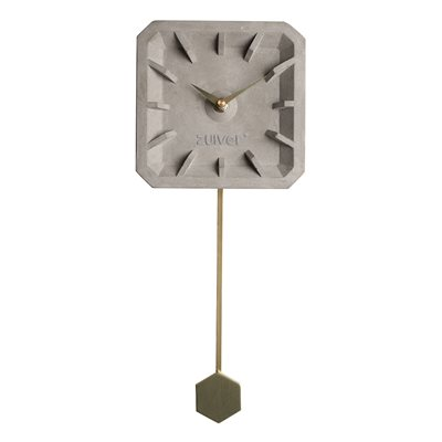 TIKTAK TIME CONCRETE CLOCK in Brass