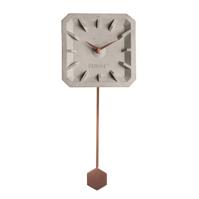 ZUIVER TIKTAK TIME CONCRETE CLOCK in Copper