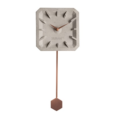 ZUIVER TIKTAK TIME CONCRETE CLOCK in Copper