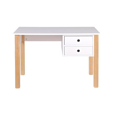KIDS DESK in White Pine with Storage Drawers