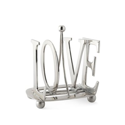 CULINARY CONCEPTS SILVER PLATED Love Toast Rack