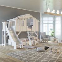 Mathy by Bols Treehouse Bunk Bed with Slide & Platform - Mathy Raw