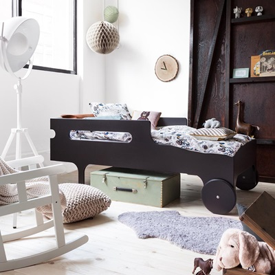 R Designer Toddler Bed in Dark Chocolate Finish