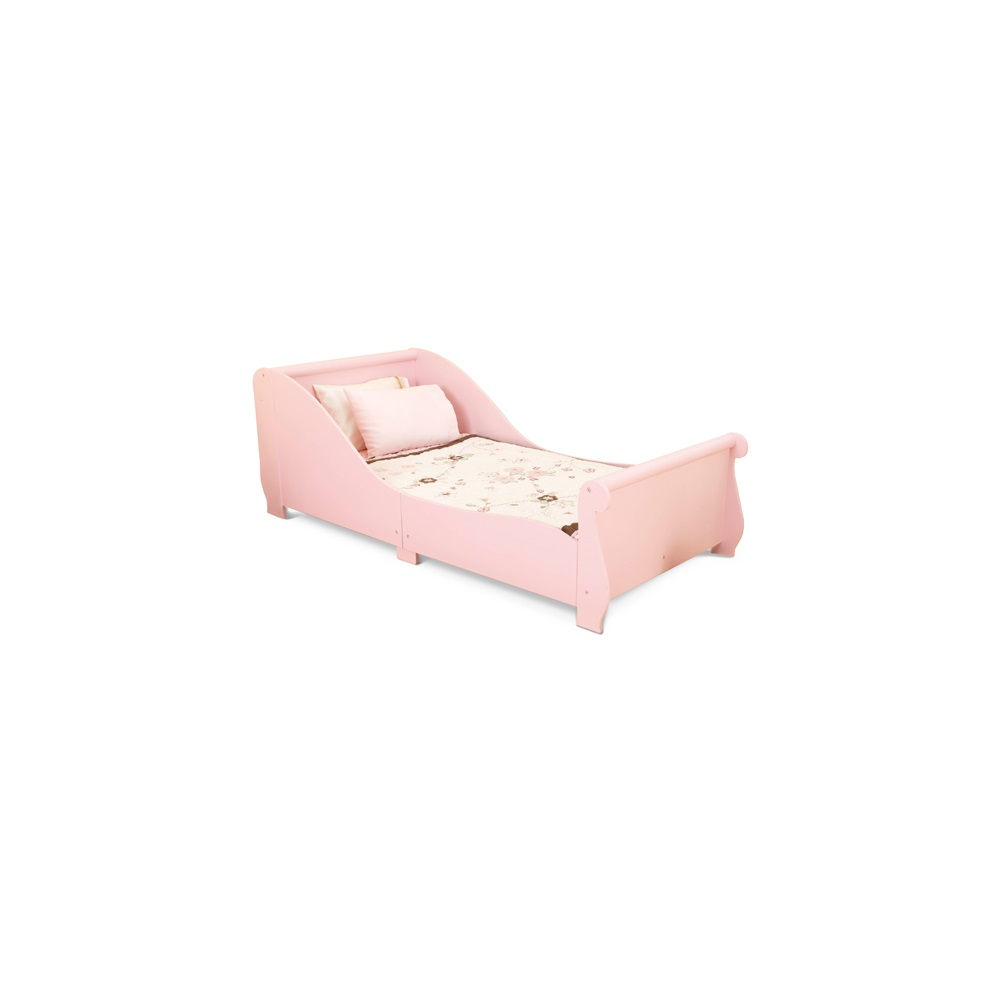 Girls Toddler Sleigh Bed In Pink