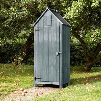 BEACH HUT TOOL SHED in Grey