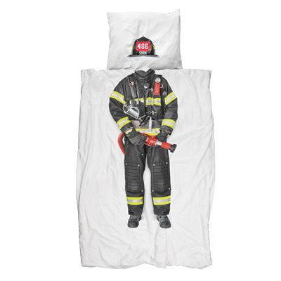 SNURK Childrens Firefighter Duvet Bedding Set