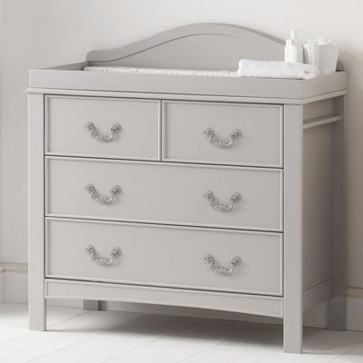EAST COAST TOULOUSE DRESSER & BABY CHANGE UNIT in French Grey Design