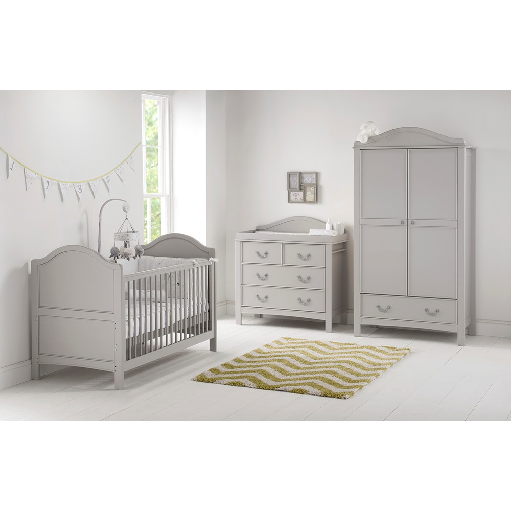 East coast toulouse nursery baby 39 s 3pc room set cots for Bedding room furniture