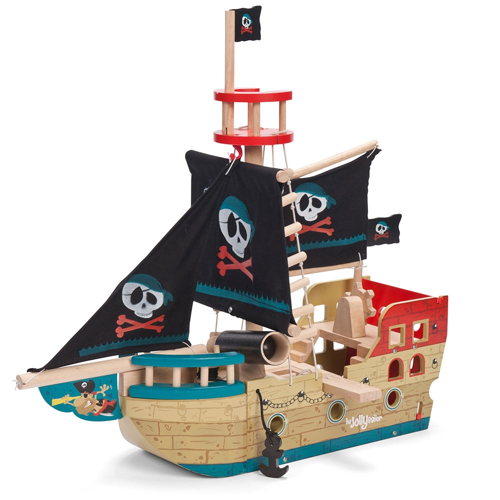 Pirate Toys For Boys : Le toy van jolly pirate ship with fabric sails